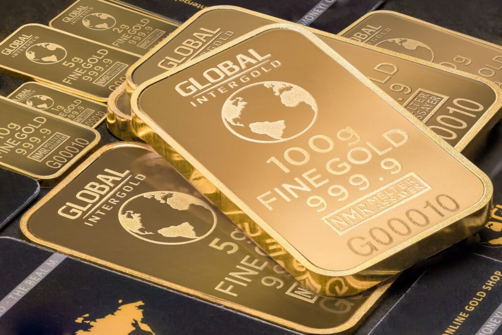 Guldinvestering i konkrete guldbarer